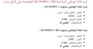 تردد قناة أبوظبي الناقلة لمبارة الاسماعيلي والرجاء المغربي